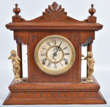 KROEBER MUSIC BOX CLOCK, VINTAGE