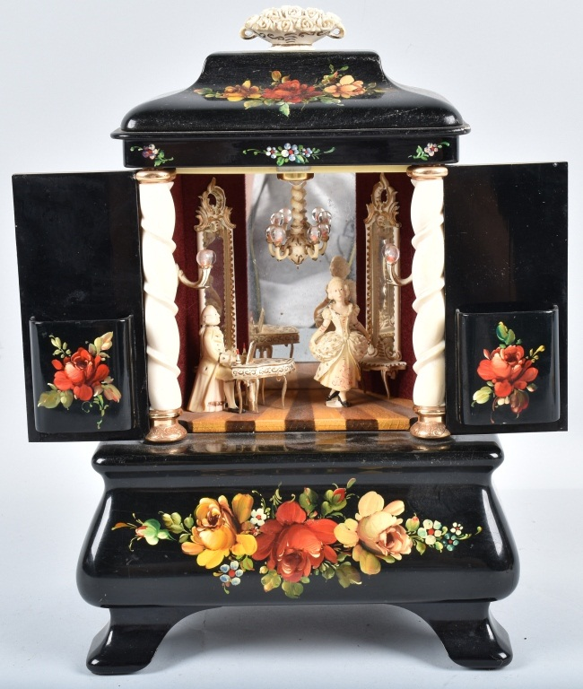BOUCHER ANIMATED PIANIST & DANCER MUSIC BOX