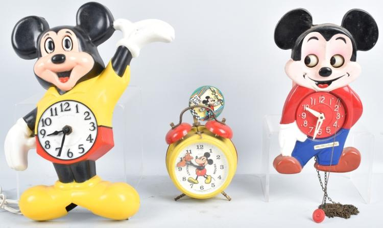 3-MICKEY MOUSE CHARACTER CLOCKS