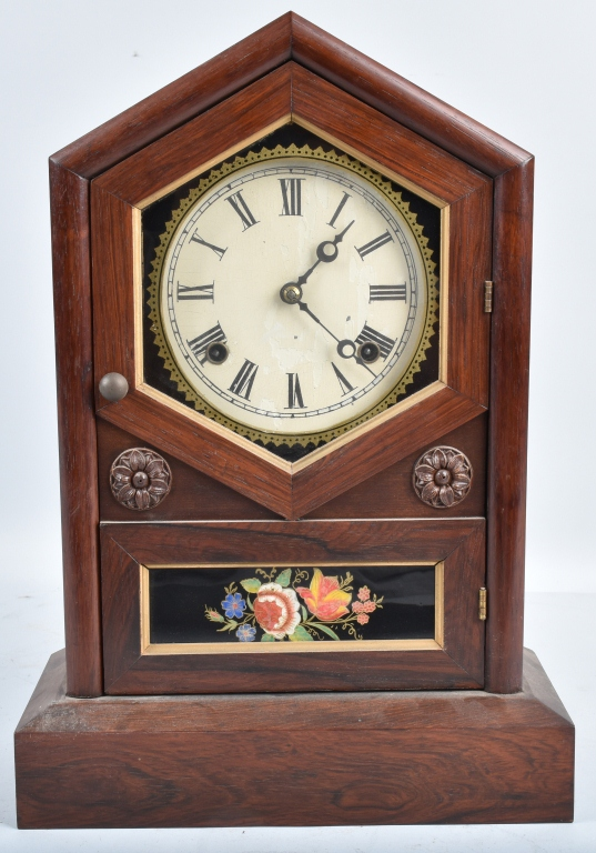 JEROME & CO. ANTIQUE SHELF CLOCK