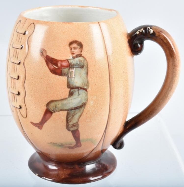 HARVARD COLLEGE BASEBALL /FOOTBALL MUG, 1905