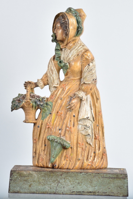 BRADLEY & HUBBARD CAST IRON LADY DOORSTOP