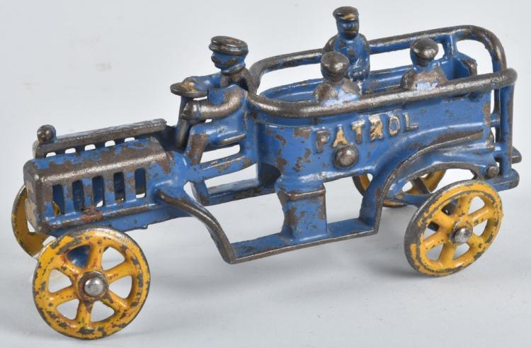 EARLY KENTON CAST IRON POLICE PATROL TOY