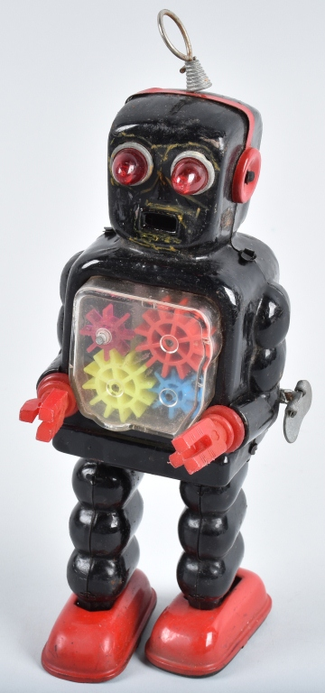 JAPAN TIN WINDUP GEAR ROBOT