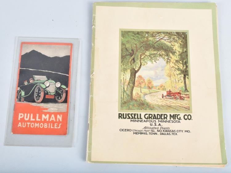 1917 PULLMAN AUTO & RUSSELL GRADER CATALOGS