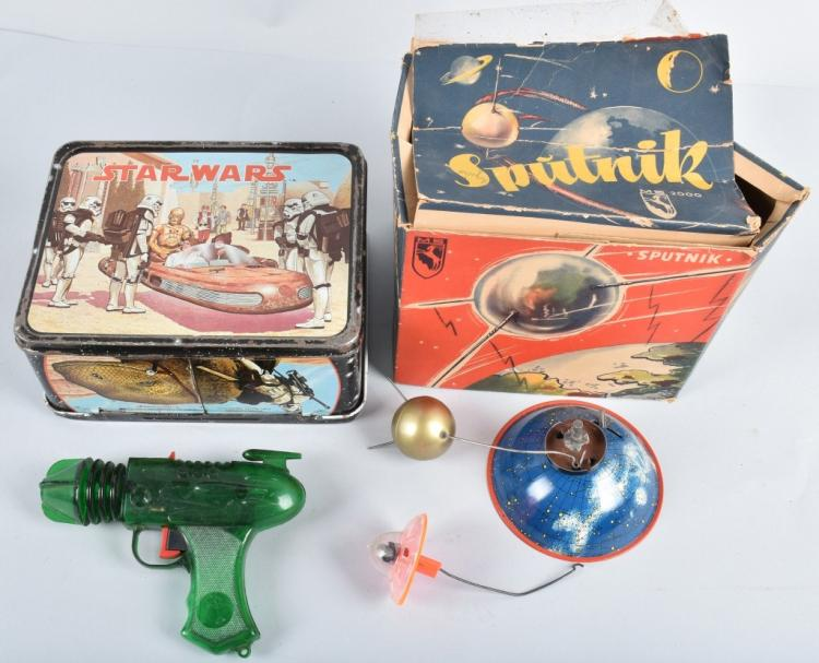 STAR WARS LUNCH BOX , SPACE GUN, GERMAN SPUTNIK