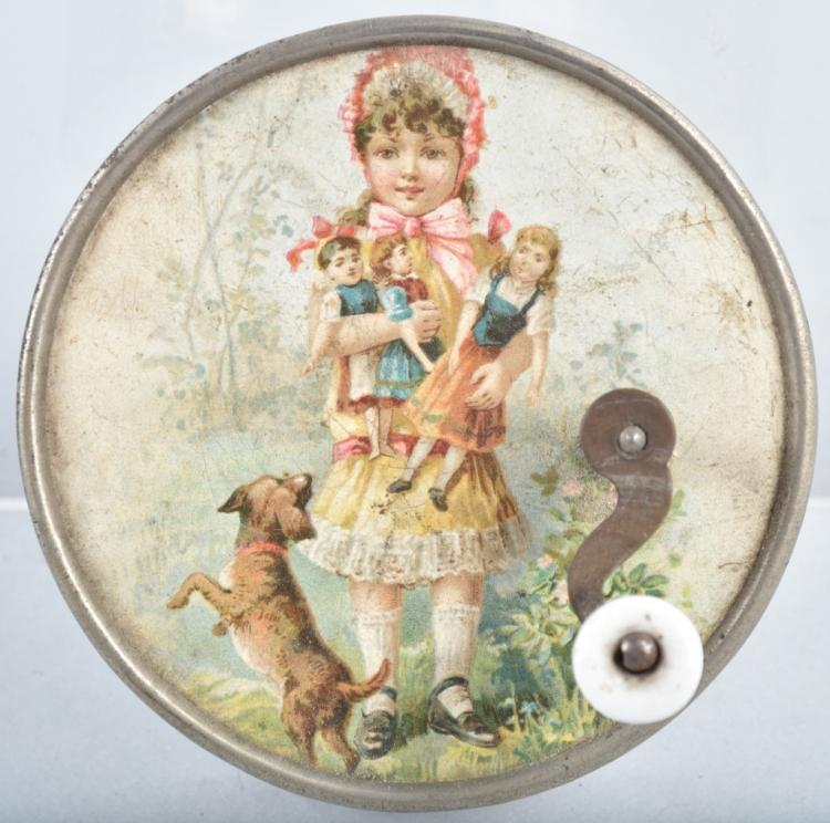 EARLY SWISS CHILD'S MUSIC BOX