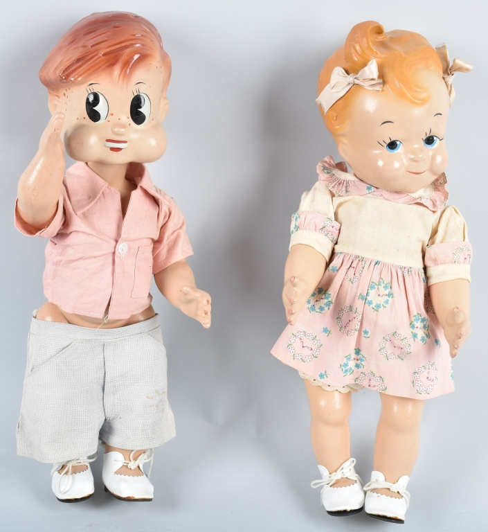 PUZZY and SIZZY CHARACTER COMPOSITION DOLLS