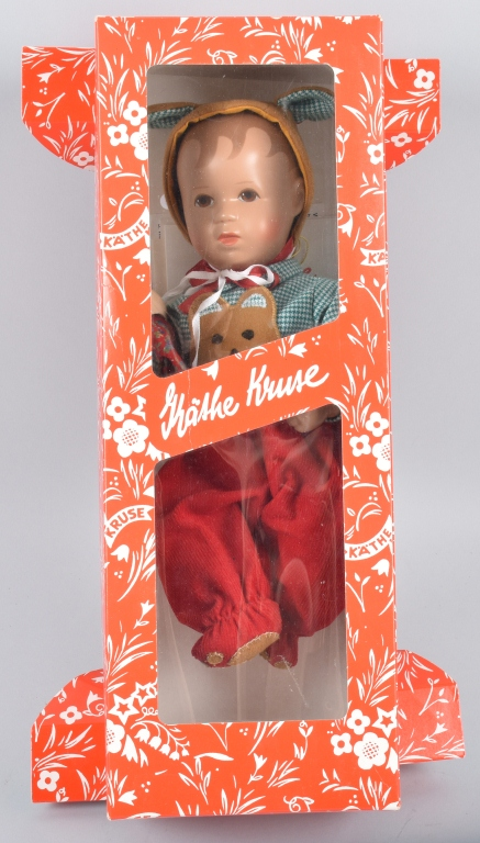 KATHE KRUSE BRUMMY 8 DOLL,  CRADLE ORIGINAL BOX