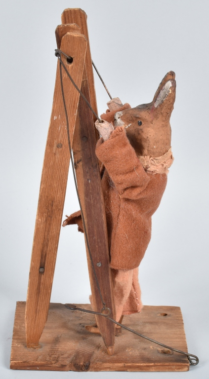 EARLY GERMAN  GERMAN RABBIT on LADDER