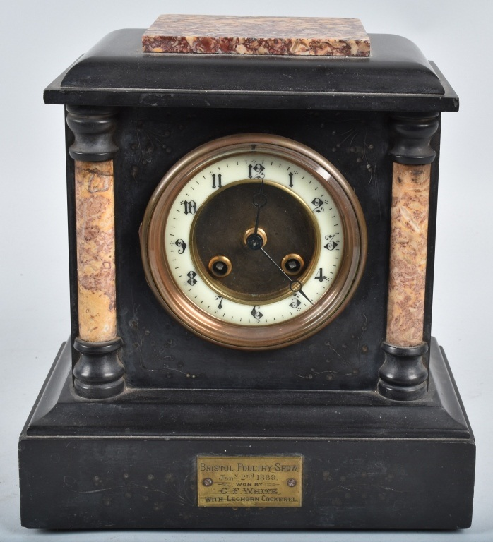 1889 BRISTOL POULTRY SHOW CLOCK AWARD