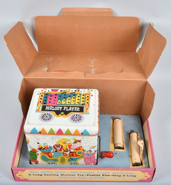 CHEIN TIN TOY MELODY PLAYER, BOXED, VINTAGE
