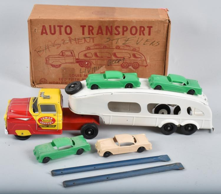 MARX AUTO TRANSPORT & CARS, BOXED