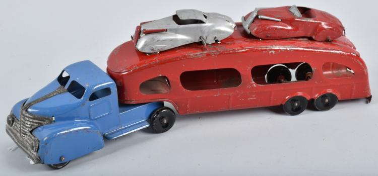1930's MARX AUTO TRANSPORT & CARS