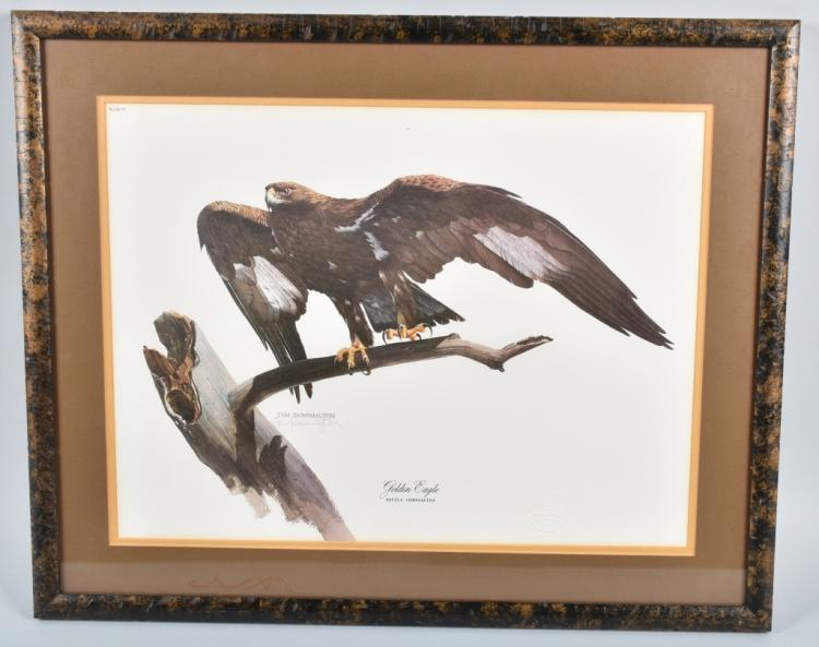 TOM DUNNINGTON SIGNED GOLDEN EAGLE PRINT