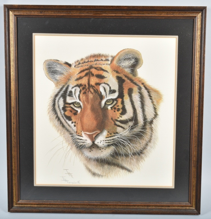 T. H. FARNSWORTH SIGNED TIGER PRINT