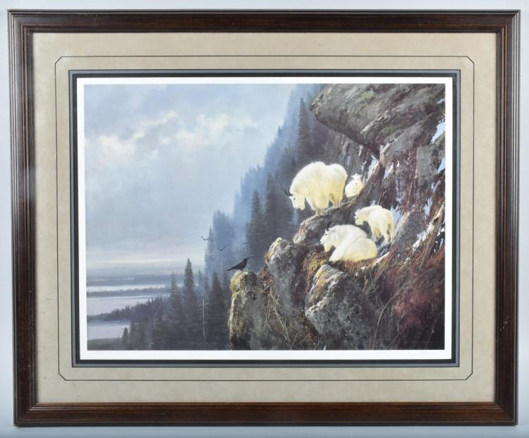 MICHAEL COLEMAN MOUNTAIN GOATS SIGNED PRINT