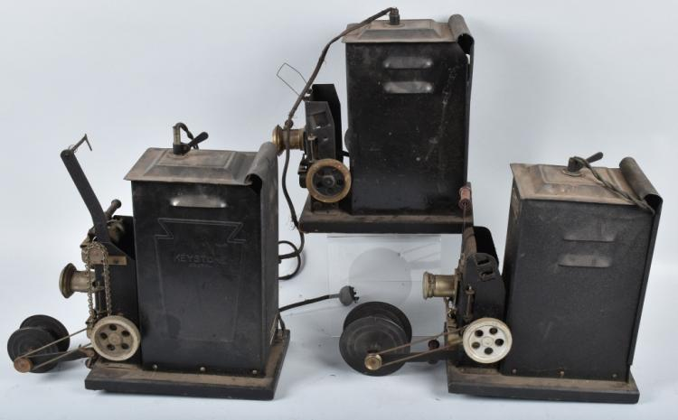 3-KEYSTONE MOVIEGRAPH 8MM PROJECTORS, VINTAGE