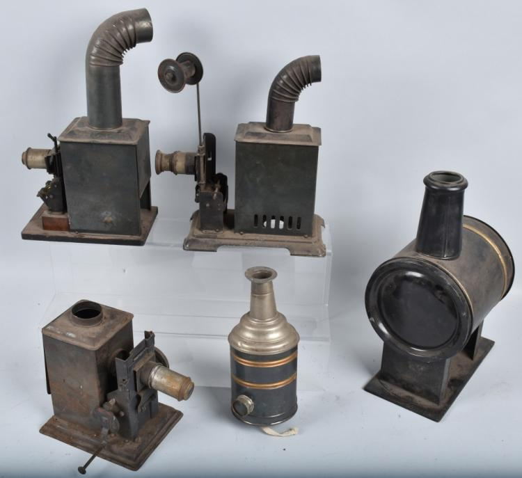 LOT of EARLY GERMAN TIN PROJECTORS and MORE
