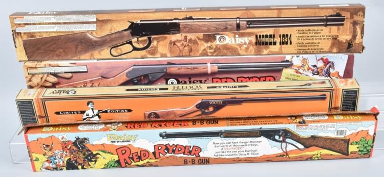 4-DAISY BB GUNS in ORIGINAL BOXES