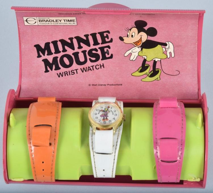 BRADLEY MINNIE MOUSE WRIST WATCH in BOX