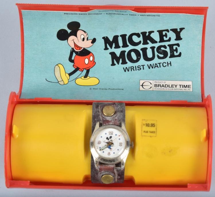 BRADLEY MICKEY MOUSE WRIST WATCH in BOX