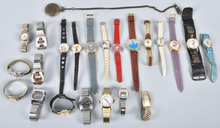 LARGE LOT of CHARACTER WRIST WATCHES & MORE