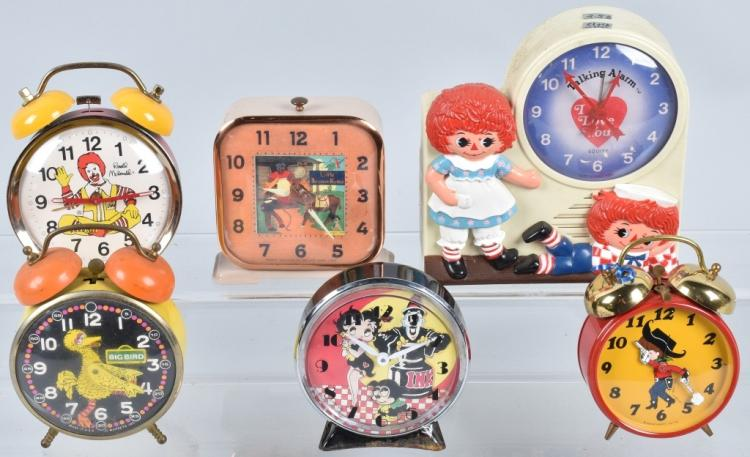 6-CHARACTER ALARM CLOCKS