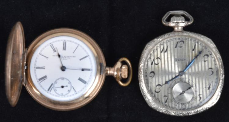 2-POCKET WATCHES, NEW YORK STANDARD & ELGIN