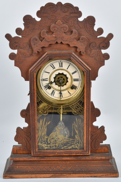 WATERBURY JADWIN OAK  KITCHEN CLOCK with ALARM