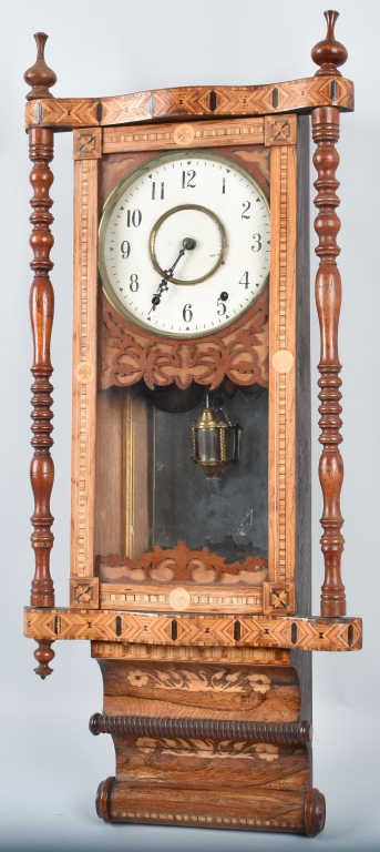 ANTIQUE INLAID WALL CLOCK