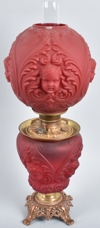 ROYAL PAT. 1895 RUBY GONE with the WIND OIL LAMP