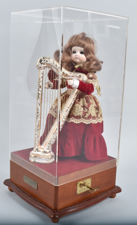SYLVAINE BISQUE AUTOMATON with HARP