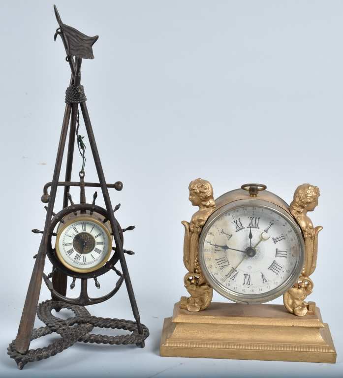 2-VINTAGE ANSONIA CLOCKS