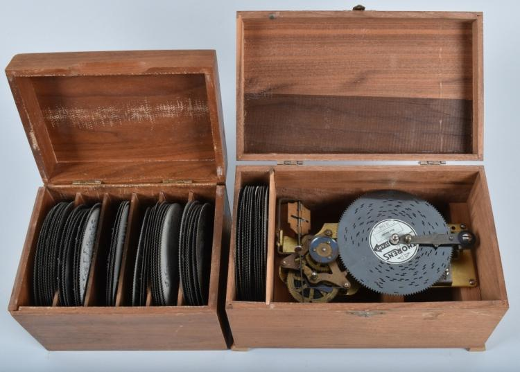 THOREN MUSIC BOX and LARGE GROUP OF DISKS