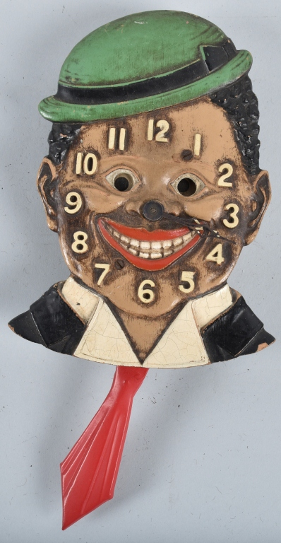 LUX NOVELTY DIXIE BOY BLACK MAN CLOCK