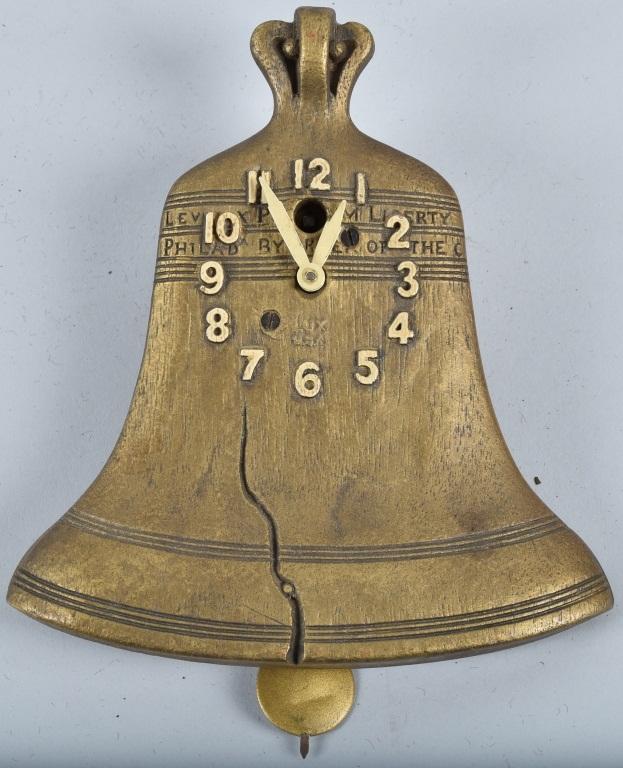 LUX NOVELTY LIBERTY BELL CLOCK