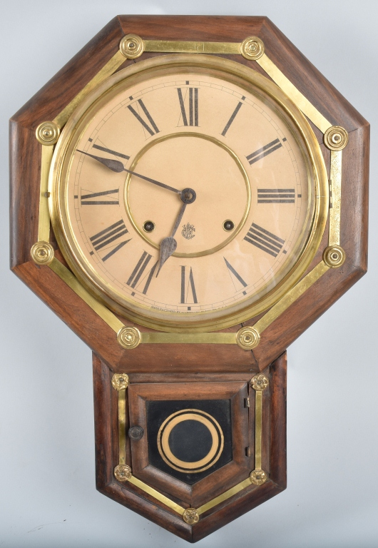 WATERBURY WALL CLOCK, VINTAGE