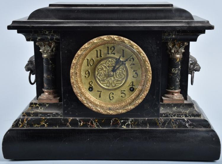 INGRAHM ORNATE MANTLE CLOCK with MUSIC BOX