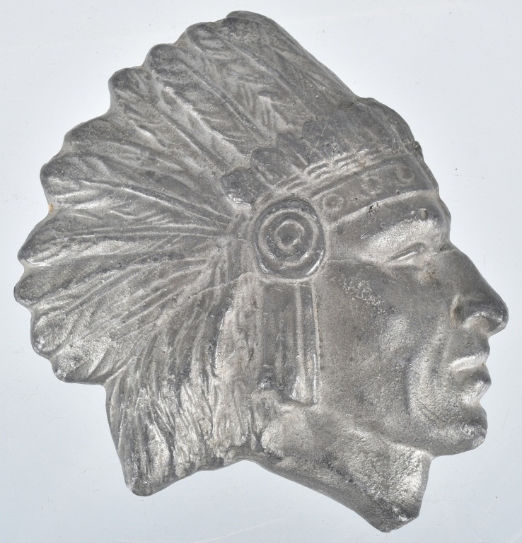 Early CAST LEAD INDIAN CHIEF PAPER WEIGHT