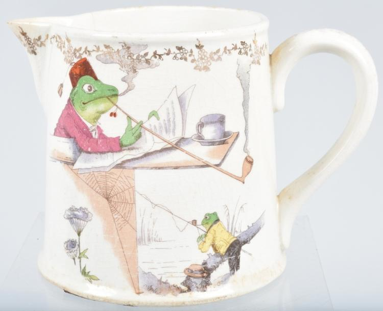 METTLACH PITCHER w/ SMOKING FROGS