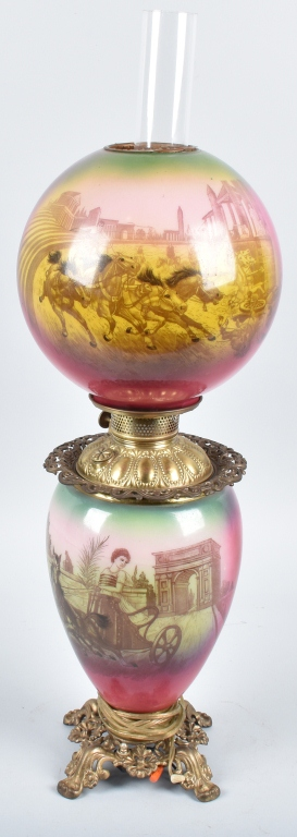 GONE with the WIND OIL LAMP with ROMAN CHARIOTS