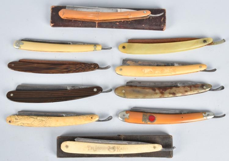 10- ANTIQUE STRAIGHT RAZORS