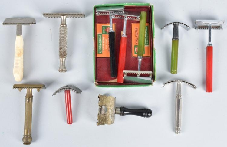 10- VINTAGE SAFETY RAZORS