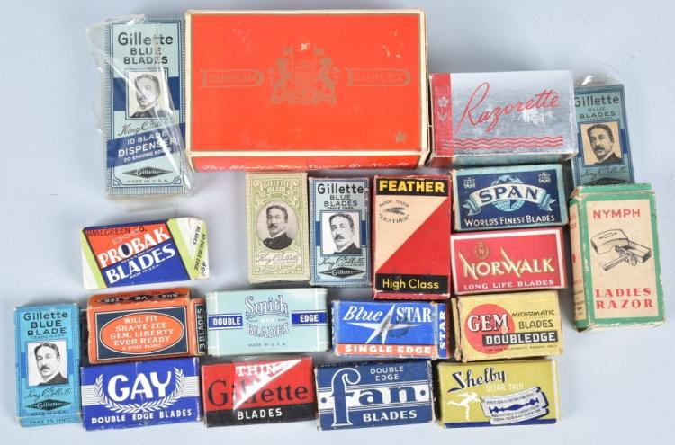 LOT OF VINTAGE RAZOR BLADES w/ BOXES