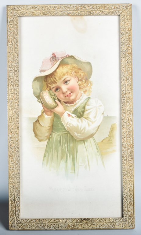 1890s BT BABBITS SOAD ADVERTISING POSTER w/ CHILD