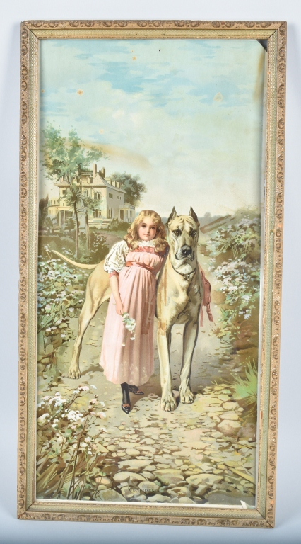 1890s ARBUCKLE COFFEE ADVERTISING POSTER w/ CHILD