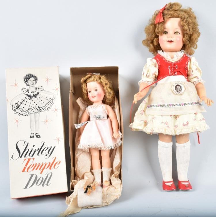 2- IDEAL SHIRLEY TEMPLE DOLLS, ONE BOXED