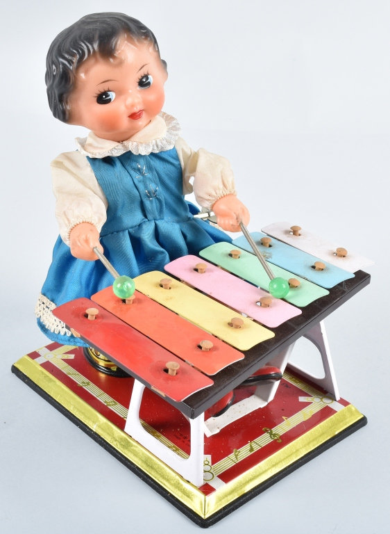 TIN WINDUP GIRL XYLOPHONE PLAYER