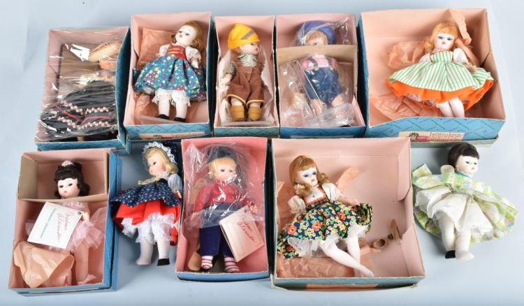 10-MADAM ALEXANDER DOLLS, MOST BOXED